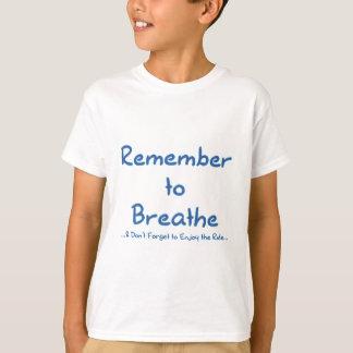 Recuerde respirar (el azul) polera