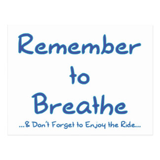 Recuerde respirar (el azul) postal