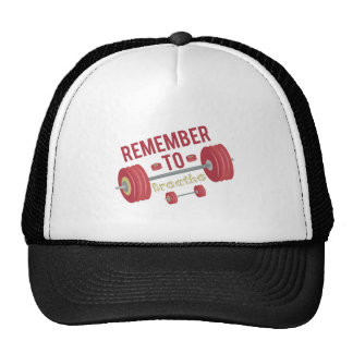 Recuerde respirar gorro de camionero
