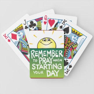 Recuerde rogar diario barajas de cartas