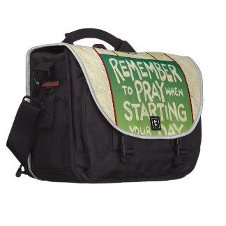 Recuerde rogar diario bolsas de portátil