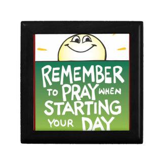 Recuerde rogar diario cajas de recuerdo