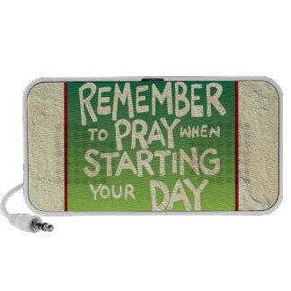 Recuerde rogar diario laptop altavoces