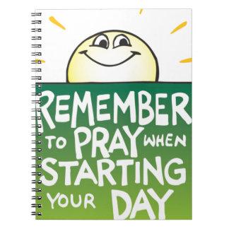 Recuerde rogar diario libros de apuntes