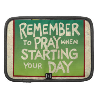 Recuerde rogar diario organizadores