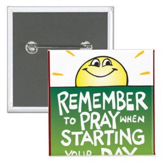 Recuerde rogar diario pin