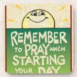 Recuerde rogar diario posavasos