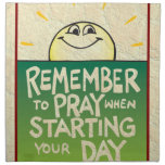 Recuerde rogar diario servilletas