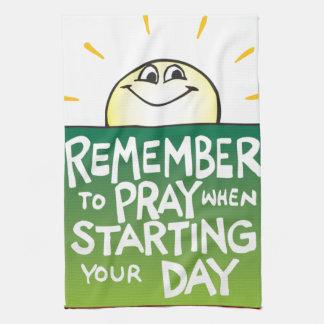 Recuerde rogar diario toalla de mano