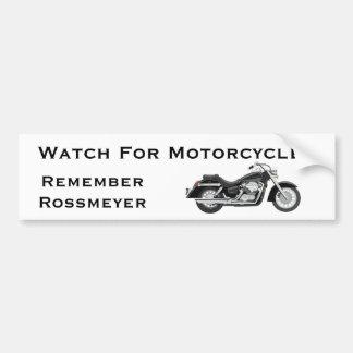 Recuerde Rossmeyer Etiqueta De Parachoque