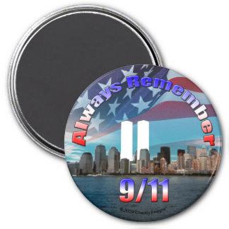 Recuerde siempre 9 11 imanes de nevera