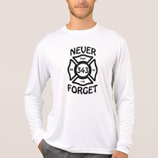 Recuerde siempre el 11 de septiembre y los 343 playeras