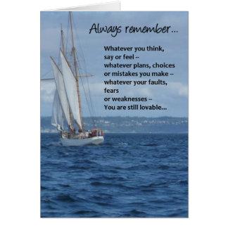 Recuerde siempre… tarjeta de felicitación