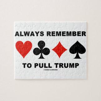 Recuerde siempre tirar del triunfo (cuatro juegos puzzle