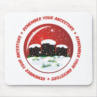 Recuerde su globo de la nieve de los antepasados alfombrilla de ratones