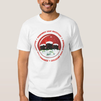 Recuerde su globo de la nieve de los antepasados camisas