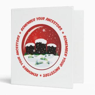 """Recuerde su globo de la nieve de los antepasados carpeta 1"""""""