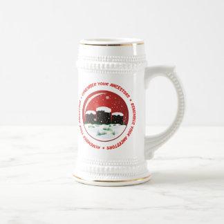 Recuerde su globo de la nieve de los antepasados jarra de cerveza