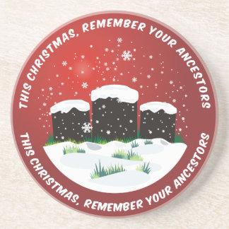 Recuerde su globo de la nieve de los antepasados posavasos personalizados