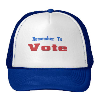 Recuerde votar gorras