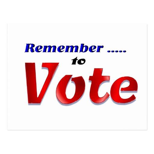 Recuerde votar postal