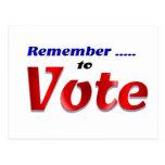 Recuerde votar postales