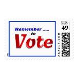 Recuerde votar sellos