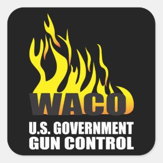 Recuerde Waco Pegatinas Cuadradases