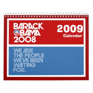 Recuerdo 2009 de presidente Obama Calendarios