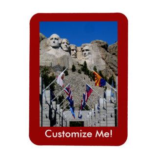 Recuerdo adaptable de la foto del monte Rushmore Imán