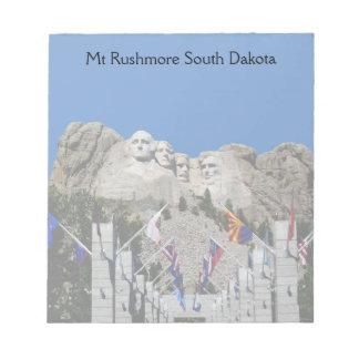 Recuerdo adaptable de la foto del monte Rushmore Libreta Para Notas