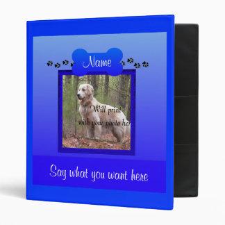 Recuerdo azul conmemorativo del perro