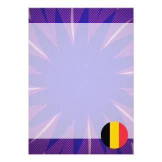 """Recuerdo belga de la bandera invitación 5"""" x 7"""""""