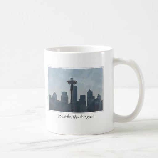 Recuerdo céntrico de los regalos de Seattle Taza De Café