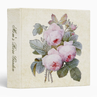 """Recuerdo color de rosa del jardín del ramo carpeta 1 1/2"""""""