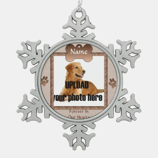 Recuerdo conmemorativo del perro - beige adorno