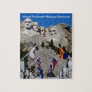 Recuerdo conmemorativo nacional del monte Rushmore Puzzle Con Fotos