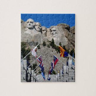 Recuerdo conmemorativo nacional del monte Rushmore Rompecabezas Con Fotos