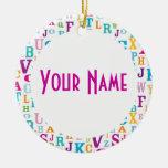 Recuerdo conocido personalizado del regalo del orn ornamento para arbol de navidad