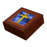 Recuerdo cruzado del oro cajas de regalo