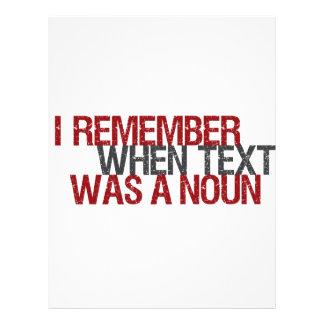 Recuerdo cuando el texto era un sustantivo plantillas de membrete