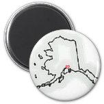 ¡Recuerdo de Anchorage Alaska! Imán De Frigorifico