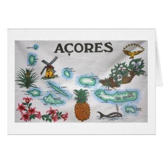 Recuerdo de Azores Felicitación