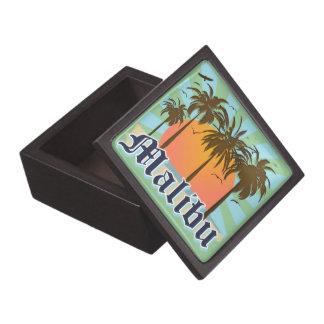 Recuerdo de California de la playa de Malibu Caja De Recuerdo De Calidad