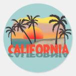 Recuerdo de California Pegatina Redonda