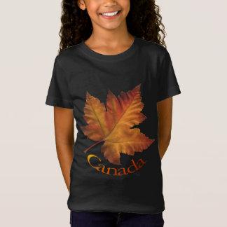 Recuerdo de Canadá de la camiseta del chica de la Playera