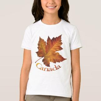 Recuerdo de Canadá de la camiseta del chica de la Polera