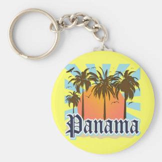 Recuerdo de ciudad de Panamá Llavero Redondo Tipo Pin