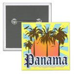Recuerdo de ciudad de Panamá Pin Cuadrada 5 Cm
