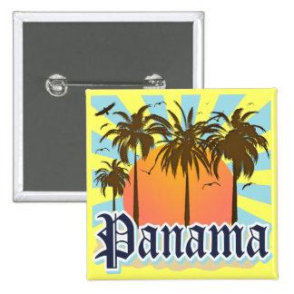 Recuerdo de ciudad de Panamá Pin Cuadrado